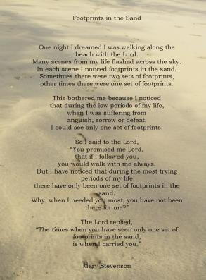 God's unfailing love, Footprints