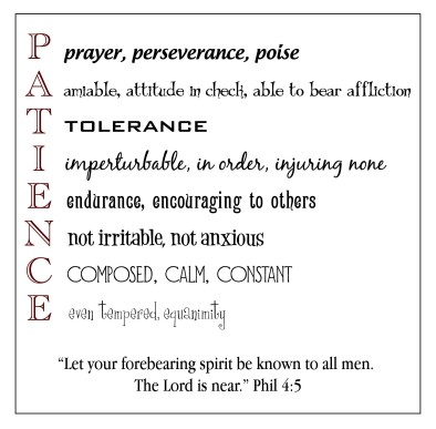 Fruit of the Spirit - Patience