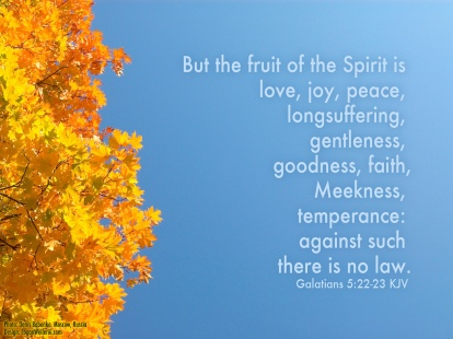 Fruit of the Spirit, Galatians 5:22-23